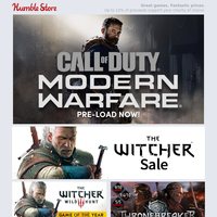 Launching today! Call of Duty: Modern Warfare and The Outer Worlds + pre-order Red Dead Redemption II