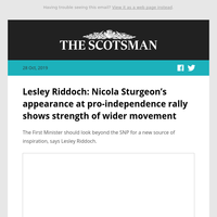 Lesley Riddoch: Nicola Sturgeon's appearance at pro-independence rally shows strength of wider movement