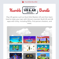 Create your own reality with the Humble Learn and Play VR-AR Game Dev Bundle!
