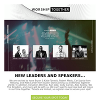 Just Added to Worship Together 20/20....