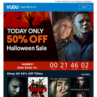 🎃🔪TODAY ONLY | 50% OFF Halloween Flash Sale