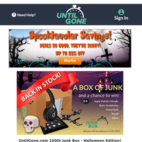 Spooktacular Deals - 100th Junk Box - Halloween Edition!