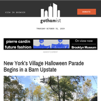 New York's Village Halloween Parade Begins In A Barn Upstate