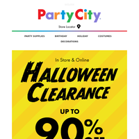 Post Halloween Clearance: Save Up to 90%. Starts Today!