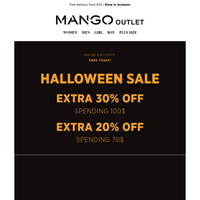Remember! Extra 30% off spending 100$ this Halloween Sale!