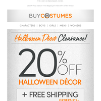 🍭  Sweet Deals On Halloween Props & Decor!