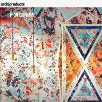 The inspiration of marbled papers. Araldica by Federico Pepe for CEDIT