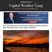 Capital Weather Gang: D.C.-area forecast: Cool autumn conditions before showers later Thursday and a much colder weekend