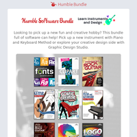 Pick up a new hobby with the Humble Software Bundle: Learn Instruments and Design!