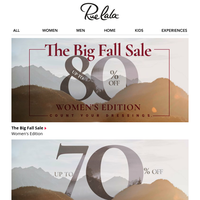 Autumn-atic Reply: Up to 80% Off Big Fall Sale.