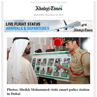 Sheikh Mohammed visits smart police station in Dubai; Yemen government, Southern Transitional Council sign Riyadh Agreement; Sheikh Mohamed launches UAE's largest defence conglomerate