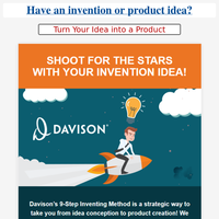 💡 {NAME}..Have an invention or product idea? Put our experience to work...