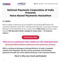 Submit Your Idea in NPCI Hackathon To Get Prizes Worth Rs.5 Lakhs