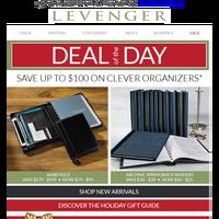 Gift Idea! $100 off the Ambi-Flex Leather Folio.