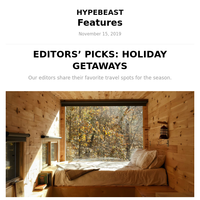 Editors' Picks: Holiday Getaways