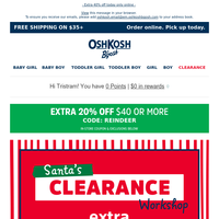 Santa's Clearance Workshop is OPEN!