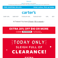 Extra 40% OFF a sleigh full of goodies!