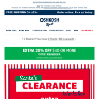 Extra 40% off clearance is wrapping up soon!