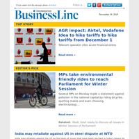 AGR impact: Airtel, Vodafone Idea to hike tariffs to hike tariffs from December 1