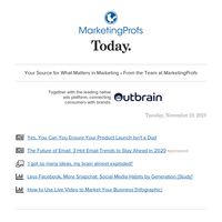 In this issue: product launch success; 3 email trends; social media usage; live video for marketing; idea overload