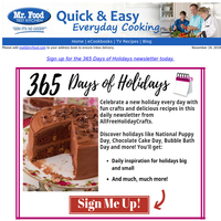 Re: Your Requested Daily Holiday Inspiration