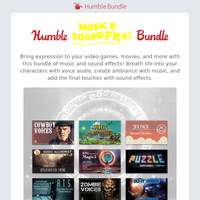 The Humble Music and Sound Effects Bundle adds the final touches to your creative projects!