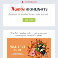 This week at Humble: Fall sale, last chance for Classic, & more!