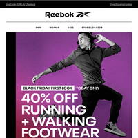 Today Only: 40% Off Running + Walking Shoes