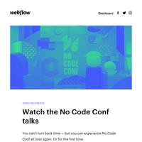 📽️ No Code Conf talks + 🤩 Portfolio inspiration + 📝 UI design tips
