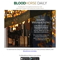 BloodHorse Daily: Happy Thanksgiving