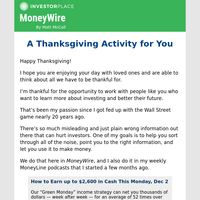 MoneyWire: A Thanksgiving Activity for You