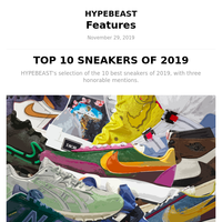 TOP 10 SNEAKERS OF 2019