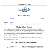 Word of the Day, November 29, 2019