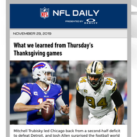 What we learned from Thursday's Thanksgiving games