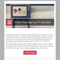 Blog Update: 16 Best Thanksgiving TV Episodes Ever