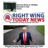 President Trump totally mocks Newsweek for fake thanksgiving headlines...