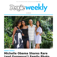 Michelle Obama shares a rare (and gorgeous!) new family photo on Thanksgiving