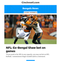 Bengals News:Josh Shaw, former Bengals DB, suspended through 2020 season for betting on NFL games