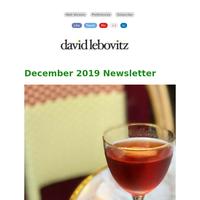 December 2019 Newsletter from David Lebovitz