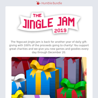 Yogscast Jingle Jam is back with 100% to charity with new games added daily!