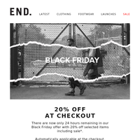 Black Friday 20% off - 24 hours remaining