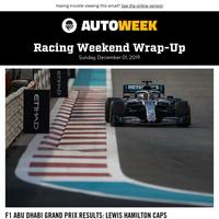 Spoiler alert: F1 ends 2019 season in Abu Dhabi; racing news you may have missed from Thanksgiving week