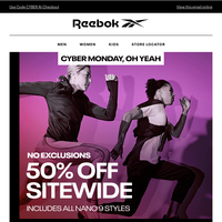 50% OFF SITEWIDE  (No Exclusions) – Cyber Monday Is HERE