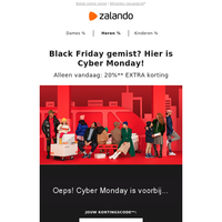 Black Friday gemist? Hier is Cyber Monday!