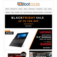 Black Friday Sale Ends Midnight! Deals on Notebooks, UHD TVs, Philips Airfryers & 1000s More!