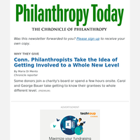 Conn. Philanthropists Take the Idea of Getting Involved to a New Level