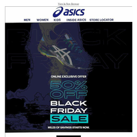 Yes, It's Here: ASICS Black Friday Sale ,Upto 50% OFF