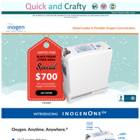 Black Friday Special! $700 Off a New Inogen One ®