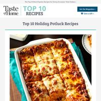 Top 10 Holiday Potluck Recipes
