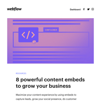 📝 Content embeds to grow your business + 💡 Blog design inspiration + 🗓️ December events